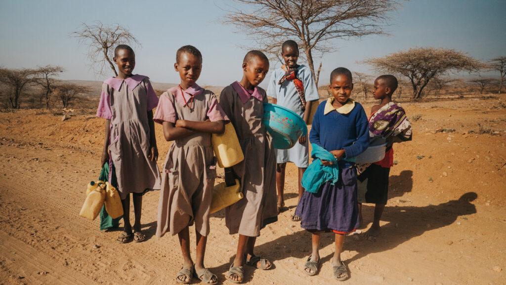 poor African kids
