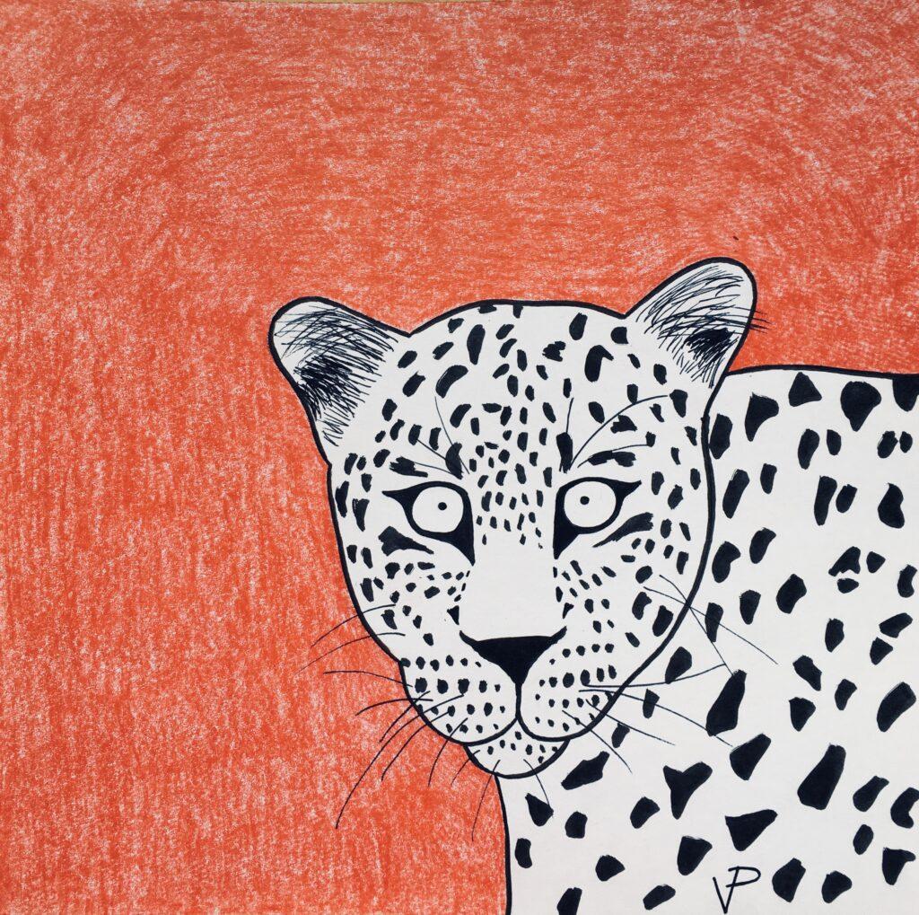 Persian leopard's head