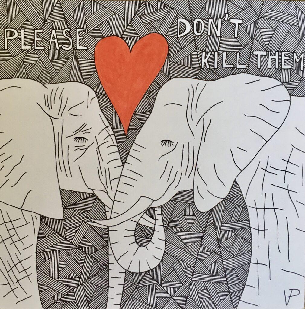 Two elephants who want to live